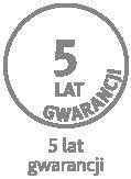 5 lat gwarancji na wkład materaca; 2 lata gwarancji na pokrowiec