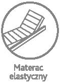 Materac elastyczny - możemy używać na stelażach z regulacją nachylenia podgłówka i podnóżka