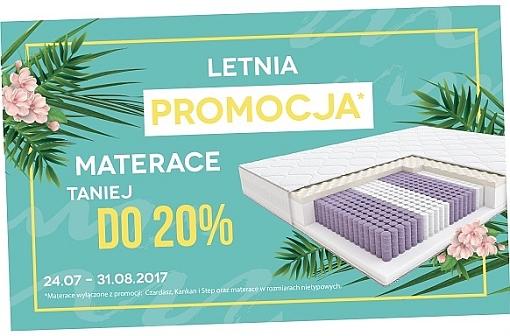 Letnia promocja – Materace taniej do 20%