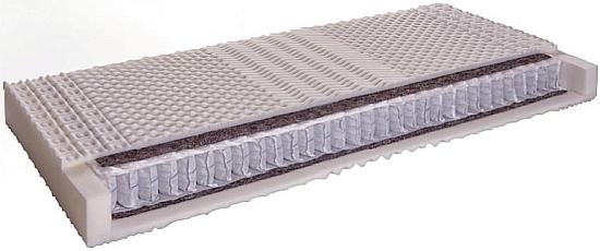 wkład materaca - materac kieszeniowy 7 strefowy utwardzony obustronnie filcem