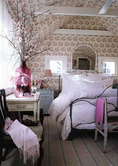 sypialnia vintage