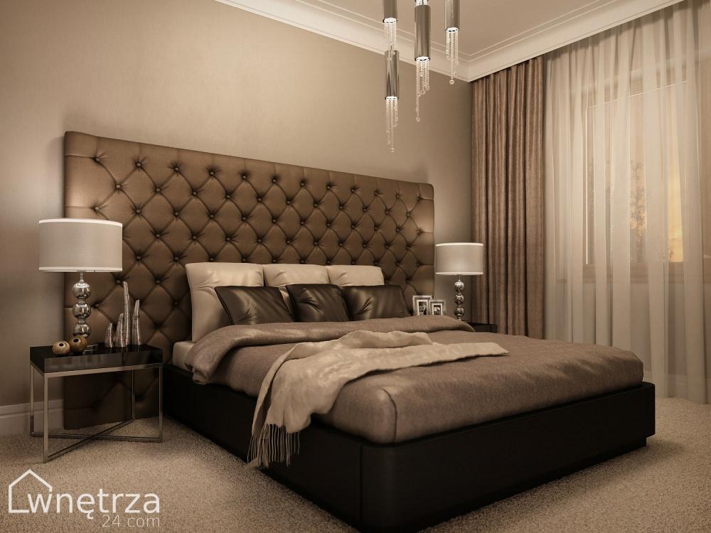 łóżko w stylu glamour