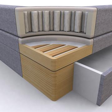 łóżko kontynentalne Select Plus przekrój