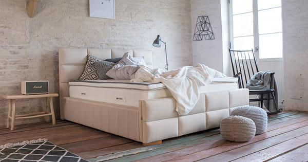 eleganckie łóżko do sypialni - Tulip Hilding