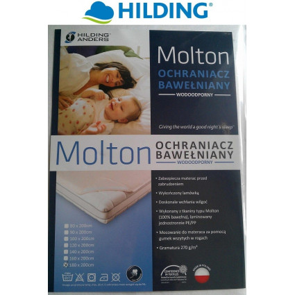 Ochraniacz na materac bawełniany (wodoodporny) Hilding Molton 180x200