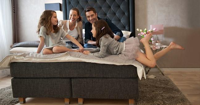 łóżko kontynentalne - Historia łóżka, materaca